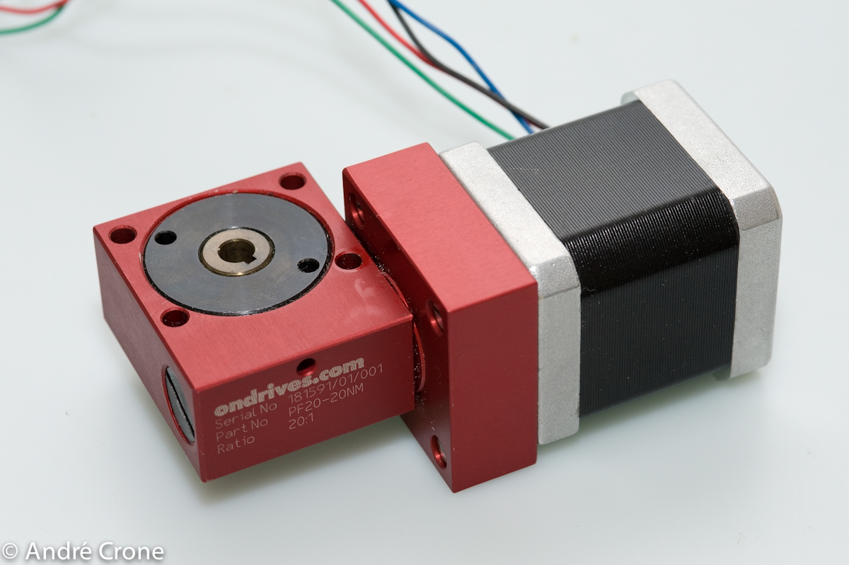 Stepper motors in sound sensitive enviorment for Stepper motor gear box